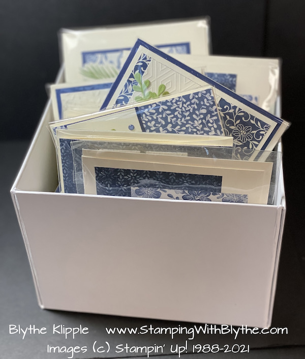My box of Boho Indigo Product Medley cards