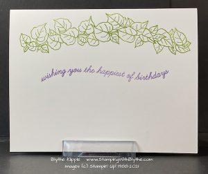 Inside greeting using Quite Curvy stamp set