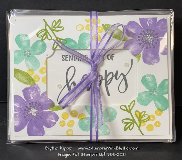 package up a gift pack of 5 different greetings