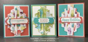 double pleat fancy fold card