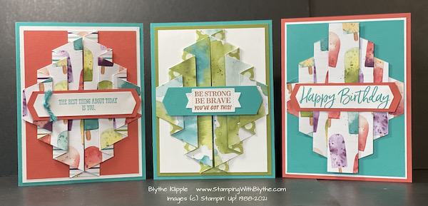 double pleat fancy fold card