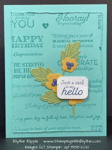 Many Messages finished card