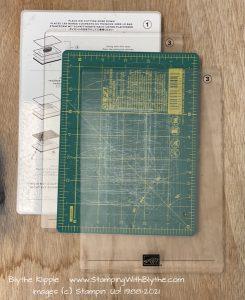 #1 platform, #3 acrylic mat layer, OLFA layer, #3 acrylic layer