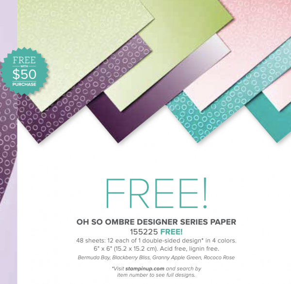 "Oh So Ombre 6"" x 6"" Designer Series Paper, 155225"