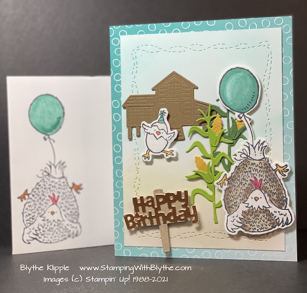 Hey birthday Chick stamp set & dies
