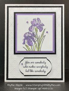 Inspiring Iris stamp set, 149268, $21