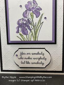 Inspiring Iris card