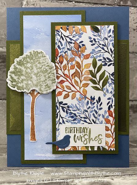 Beauty of Friendship hand stamped birthday card