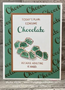 Today's plan: consume Chocolate