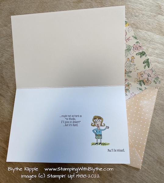 Judy's card, inside