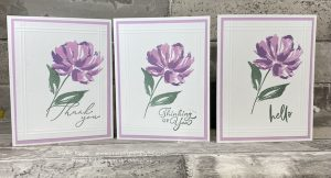 Adding greetings finishes the cards