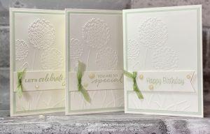3D Dandelion embossing folder card