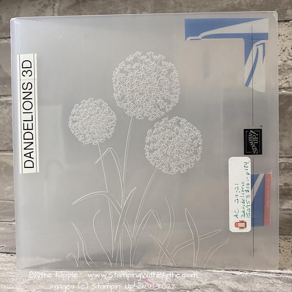Dandelion 3d embossing folder with alignment markings