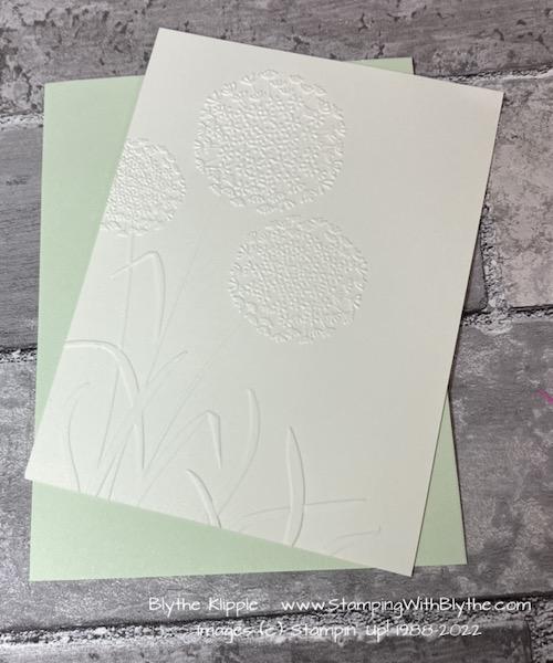 Attach die cut layer to Soft Sea Foam layer