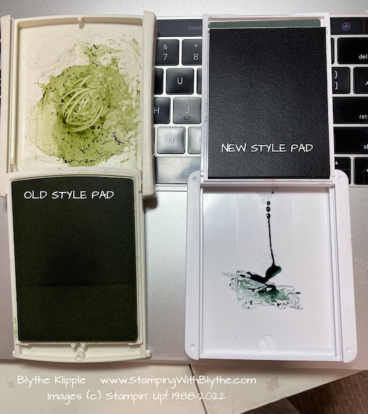 Old and new style ink pads
