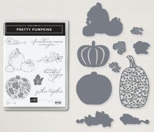 Pretty Pumpkins Bundle, stamp + dies