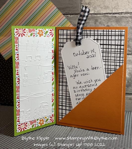 """5"""" x 7"""" tunnel birthday card"""